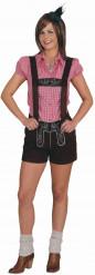 Disfraz bávaro corto mujer
