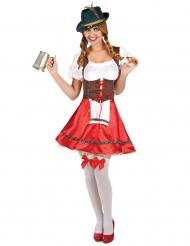 Disfraz de bávara rojo mujer