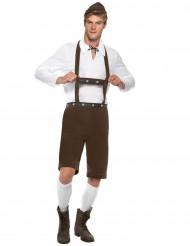 Disfraz bávaro hombre marrón