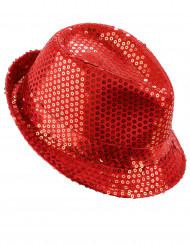 Sombrero rojo lentejuelas adulto