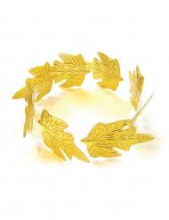 Corona de laurel dorado adulto