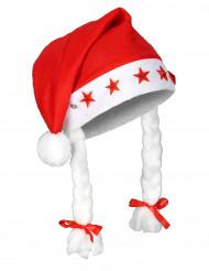 Gorro Navidad luminoso con trenzas