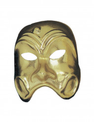 Máscara comedia dorada adulto