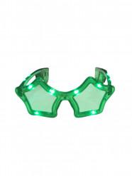 Gafas estrella verde LED