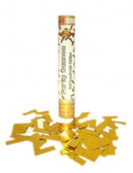 Cañón de confetis dorados