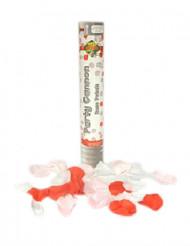 Cañón de confetis pétalos de rosa falsos