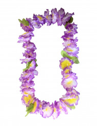 Collar hawaiano de flores violeta