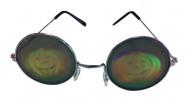 Gafas de metal redondas con holograma de calabaza