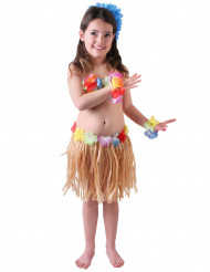 Disfraz de hawaiana natural niña