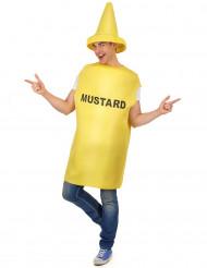 Disfraz de mostaza adulto