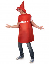 Disfraz de ketchup adulto