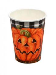 Lote 6 vasos calabaza Halloween