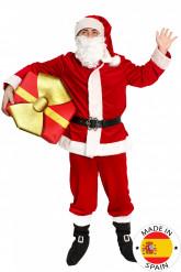 Disfraz de Papá Noel lujo adulto- Premium