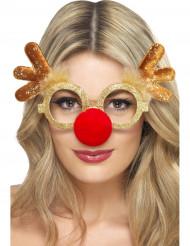 Gafas reno para adulto Navidad