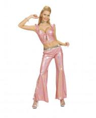 Top disco rosa mujer