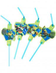 Lote de 8 pajitas verdes Tortugas Ninja™