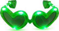 Gafas corazón verde LED