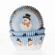 50 Moldes de cupcakes muñeco de nieve