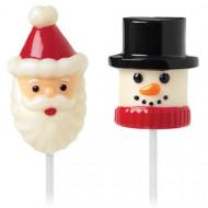 Moldes para Shamallow papá Noel y muñeco de nieve