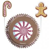 Set de moldes para cupcakes y palillos de decoración
