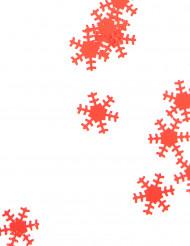 Confetis Navidad copos rojos