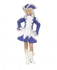 Disfraz de majorette azul niña