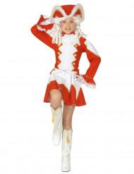 Disfraz de majorette rojo niña