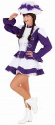Disfraz de majorette violeta mujer