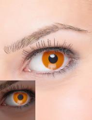 Lentillas de contacto naranja fluorescente