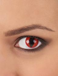 Lentillas de contacto rojas ojo de reptil