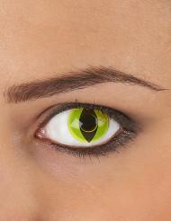 Lentillas de contacto ojo reptil amarillo adulto