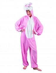 Disfraz de conejo rosa y blanco adulto