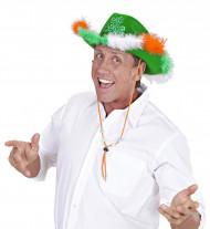 Sombrero de vaquero trébol San Patricio adulto