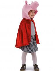 Capa de cerdito rojo niño