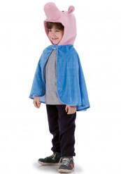 Capa de cerdito azul niño