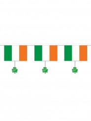 Guirnalda bandera irlandesa y tréboles St Patrick