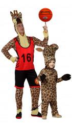 Disfraz de pareja jirafa padre e hijo