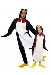 Disfraz de pareja de pinguinos padre e hijo(a)