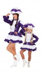 Disfraz de pareja majorette violeta madre e hija