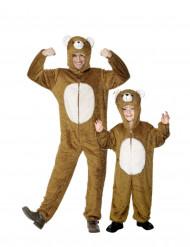 Disfraz de pareja oso padre e hijo