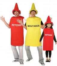 Disfraz de familia ketchup - mostaza