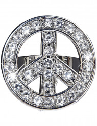 Anillo hippie brillantes adulto