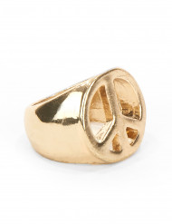 Anillo hippie dorado adulto