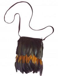 Bolso indio plumas