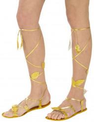 Sandalias doradas adulto