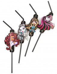 8 Pajitas 24 cm Monster High 2™