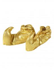 Cubre zapatos dorados de sultán adulto