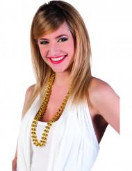 2 collares de perlas oro adulto
