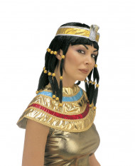 Peluca Cleopatra morena mujer