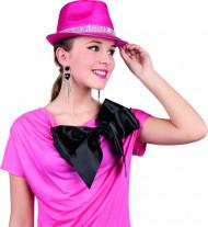 Sombrero rosa con brillantes adulto